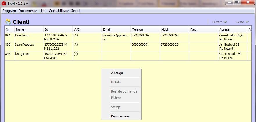 Adaugare Client 1